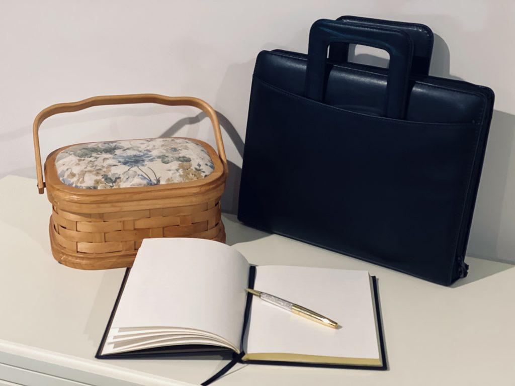 Sewing kit, portfolio and journal